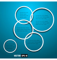 web design circles vector image