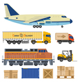 Cargo Transport and Packaging vector image