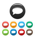 chat icons set vector image