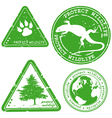 Protect wildlife stamp vector image