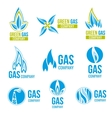 Gas industry logos icons set vector image