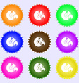 CD icon sign Big set of colorful diverse vector image
