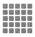 Icons e-Commerce Flat objects shopping symbols vector image