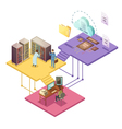 Datacenter Isometric vector image
