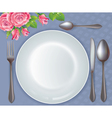Celebratory tableware vector image vector image