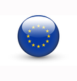 Round icon with national flag of European Union vector image vector image