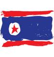 North Korea grunge flag vector image