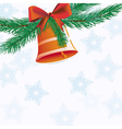 Christmas bell with ribbon vector image