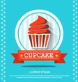 flat cupcakes vector image