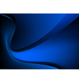 Blue glowing graphic wave on black background vector image
