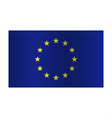 Simple Europe flag EU isolated on white background vector image vector image