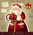 Christmas with santa claus vector