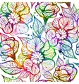 Abstract bright floral seamless pattern vector image