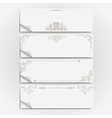 White paper banners vector image