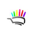 Abstract Shopping Cart vector image vector image
