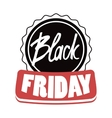 Black Friday modern design badge sales vector image
