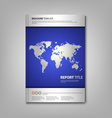 Brochures book or flyer with wold map template vector image