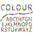 Colour alphabet vector image