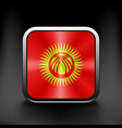 Square icon with flag of kyrgyzstan vector image