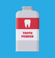 tooth powder in plastic package with teeth vector image