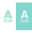 unique letter a logo design template vector image
