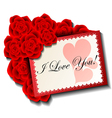 Valentine card with rose vector image