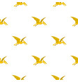 yellow pterosaurs dinosaur pattern seamless vector image