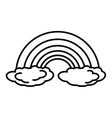 rainbown climate symbol isolated icon vector image