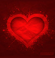 Creased old paper with cut red heart vector image vector image