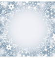 Winter seasonal frame with snowflakes vector image vector image
