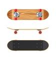 Skateboard Deck Side Bottom Realistic vector image