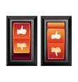 social media internet concept vector image