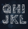 Constellation Geometric Font G-L vector image vector image