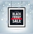 black friday sale poster in framewinter banner vector image