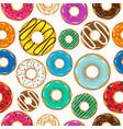 donut begel with cream seamless cookiescookie vector image
