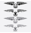 eagles set design template vector image