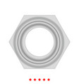 hex nut icon different color vector image