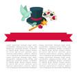 magic show poster design of magician trick vector image