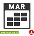 March Calendar Grid Eps Icon vector image