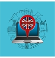 Online education london graphic vector image