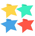 Set of star stickers in four colors vector image