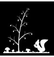 Silhouette of the squirrel in the grass vector image