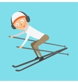Skiing human trick vector image