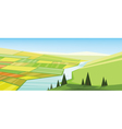 abstract green landscape vector image