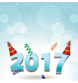 2017 party hats and confetti background vector image