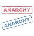 anarchy textile stamps vector image