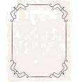 Vintage frame on beautiful background vector image vector image
