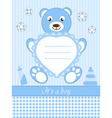 baby boy shower invitation ca vector image vector image