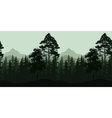 Seamless Landscape Trees and Mountains vector image