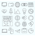 d Icons office vector image